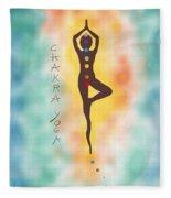 Chakra Yoga Art By Valentina Miletic Fleece Blanket