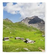 Chalets De Clapeyto # II - French Alps Fleece Blanket