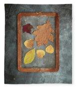 Chalkboard Leaves Fleece Blanket
