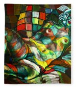 Chameleon I Fleece Blanket