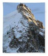 Chamonix - Aiguille Du Midi Fleece Blanket