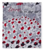 Champs De Marguerites - Love Is In The Air - Red -a23a3 Fleece Blanket