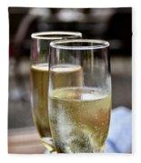 Champagne Glasses Fleece Blanket