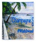 Champagne Snorkel Dominica Shirt Fleece Blanket