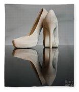 Champagne Stiletto Shoes Fleece Blanket