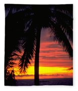 Champagne Sunset Fleece Blanket