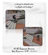 Champion In Flight And Landing Fleece Blanket
