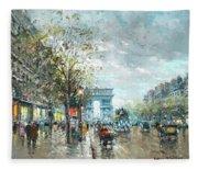 Champs Elysees Avenue, Paris Fleece Blanket