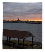 Chandler Hovey Park Sunset Marblehead Ma Fleece Blanket