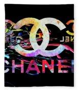 Chanel Black Fleece Blanket