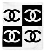 Chanel Design-5 Fleece Blanket