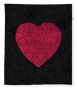 Chanel Heart-1 Fleece Blanket