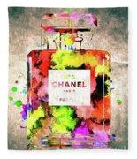 Chanel No. 5 Colored  Fleece Blanket