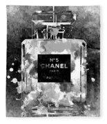 Chanel No. 5 Dark Fleece Blanket