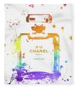 Chanel Number Nineteen Fleece Blanket