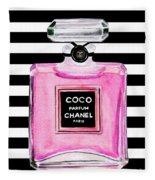Chanel Pink Perfume 1 Fleece Blanket