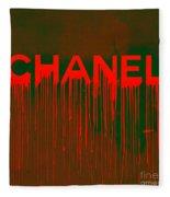 Chanel Plakative Fashion - Neon Weave Fleece Blanket