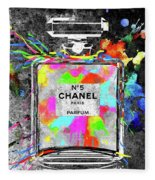 Chanel Rainbow Colors Fleece Blanket