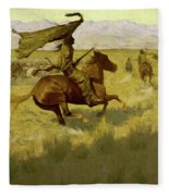 Change Of Ownership -the Stampede Horse Thieves Fleece Blanket