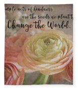 Change The World Fleece Blanket