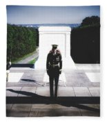 Changing Of The Guard At The Tomb Of The Unknowns At Arlington Fleece Blanket