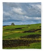 Changing Skies And Landscape Fleece Blanket