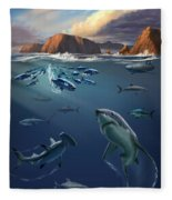Channel Islands Sharks Fleece Blanket