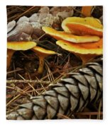 Chanterell Mushrooms  Fleece Blanket