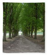 Chantilly France Street Scenes Fleece Blanket