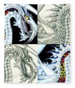 Chaos Dragon Fact W Fiction Fleece Blanket