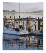 Chaos Near Bodega Bay Fleece Blanket