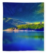Chapel By The Lake Fleece Blanket