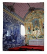 Chapel In Azores Islands Fleece Blanket