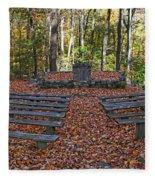 The Chapel In The Park Fleece Blanket