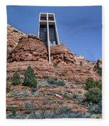 Chapel Of The Holy Cross - Arizona Fleece Blanket