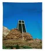 Chapel Of The Holy Cross Sedona Arizona Fleece Blanket