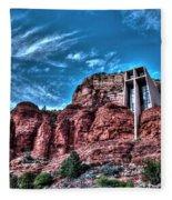 Chapel Of The Rock Fleece Blanket