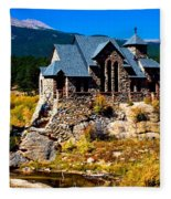 Chapel On The Rock  Fleece Blanket