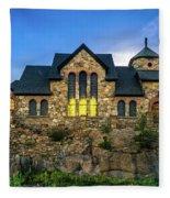 Chapel On The Rock Fleece Blanket
