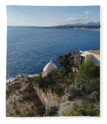 Chapel Over The Sea Fleece Blanket