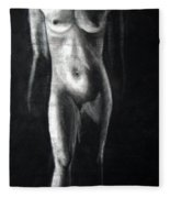Charcoal Nude Study Fleece Blanket