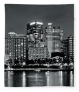 Charcoal Panoramic In Pittsburgh 2017 Fleece Blanket