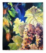 Chardonnay Vines Fleece Blanket