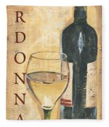 Chardonnay Wine And Grapes Fleece Blanket