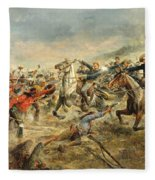 Charge Of The Seventh Cavalry Fleece Blanket