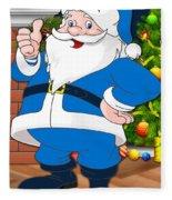 Chargers Santa Claus Fleece Blanket