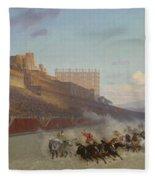 Chariot Race Fleece Blanket