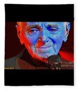 Charles Aznavour Fleece Blanket