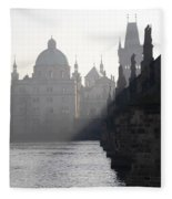 Charles Bridge At Early Morning Fleece Blanket