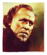Charles Bukowski, Literary Legend Fleece Blanket